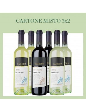 Cartone Misto 3x2 Red & White